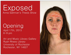 """senior thesis series: anna saltman's """"exposed"""" opens friday, april 17th from 6-9pm"""