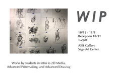 Reception tomorrow in ASIS Gallery! 1-2pm