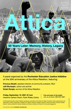 Talk Tomorrow: Attica 50 Years Later—Memory, History, Legacy