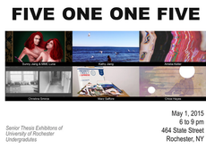 """senior thesis series: """"five one one five"""" opens friday, may 1st from 6-9pm at 464 state street"""