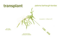 Transplant Reception - 4-6pm today -  Art/Music Library Gallery