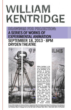 visit to university of rochester by william kentridge, artist, filmmaker, & director – 9/18, 9/1