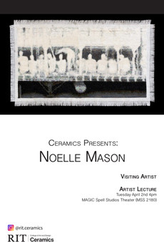 Visiting Artist Noelle Mason will speak at RIT MAGIC Spell Studios on 4/2, 4pm!
