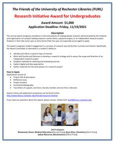 Research Initiative Award for Undergraduates