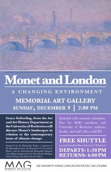 Monet and Climate Change @ the MAG on December 9, 2pm.