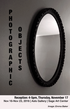 photographic objects opening reception today 4-5pm - asis gallery