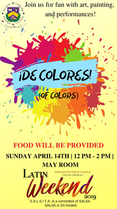 Call for art : Share your work at the event, De Colores, happening on April 14! Open to all!