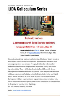 Talk 4/4: Inclusivity Matters - a conversation with digital learning designers