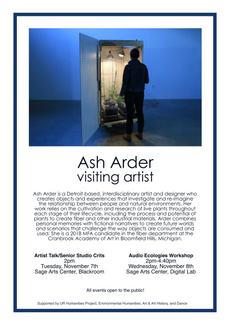 Visiting Artist: Ash Arder