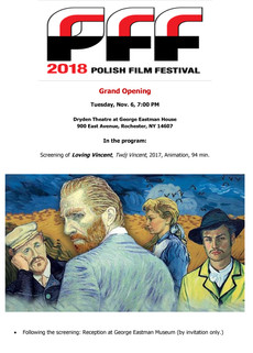 Screening tonight of Loving Vincent @ Dryden Theatre, 7pm! Reception to follow...