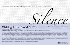 talk by visiting artist david griffin 5pm-6pm today in the gowen room