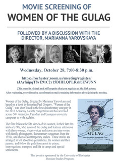 Movie Screening 10/28: Women of the Gulag