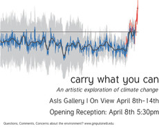"friday the 8th at 5:30PM // opening reception // ""carry what you can"" by gabryella pulsinelli in asi"