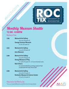 Did you know that UR has a monthly museum shuttle? Mark your calendars!