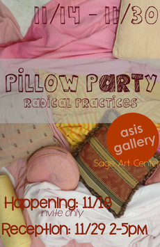 Pillow Party reception today! 2-5pm