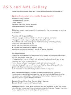 Spring Internship Opportunity