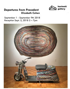 Departures from Precedent, Reception tomorrow @ Hartnett, September 5th, 5-7pm