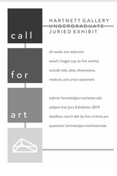 Submit your art to the Hartnett Gallery Juried Exhibition! Deadline March 6!