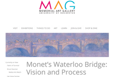 Check out the MAG's Monet's Waterloo Bridge: Vision and Process
