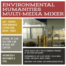 Join us for the School of Live Culture Lab at Sage Art Center on 11/6 at 7pm