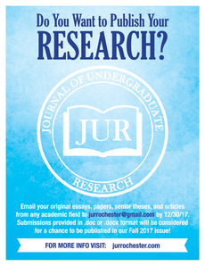 Journal of Undergraduate Research Call for Submissions