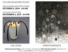 Lee Hoag and Karen Sardisco @ Colleen Buzzard Studio, Opening reception October 5, 6-9pm