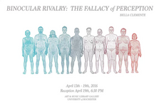 closing reception tomorrow @ 6:30PM in amlg // binocular rivalry: the fallacy of perception by bella