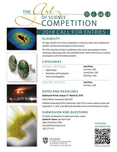 The Art of Science Competition - 2018 Call for Entries