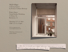 wall+paper by evelyne leblanc-roberge: opening friday 6-9 at visual studies workshop