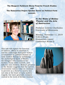 Talk 11/11: In the Wake of Medea: Theater and the Arts of Destruction