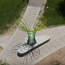 video featuring new calyx sculpture @ university of rochester