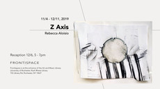 Coming to Frontispace: Z AXIS, work by Rebecca Aloisio
