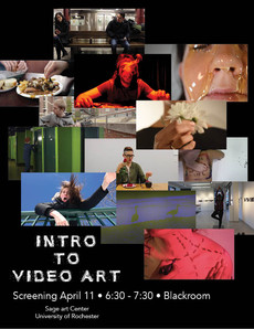 Intro to Video Art Screening - April 11 - 6:30-7:30pm