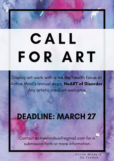 Call for Art : Art with a mental health focus