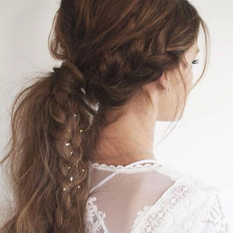 Bride chic hair style