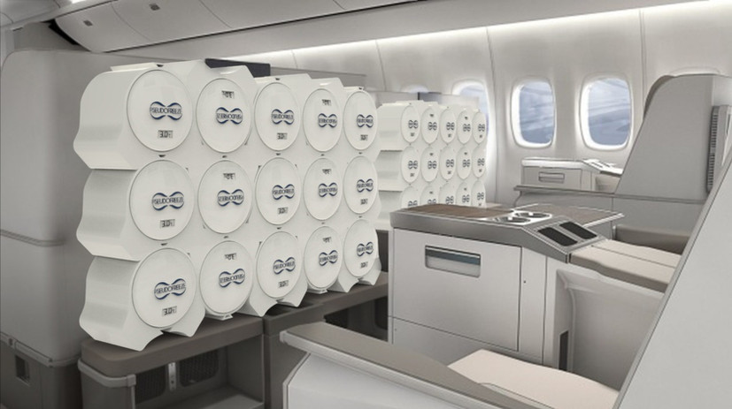This fridge does not require pressurization so it can be transported on airplanes.
