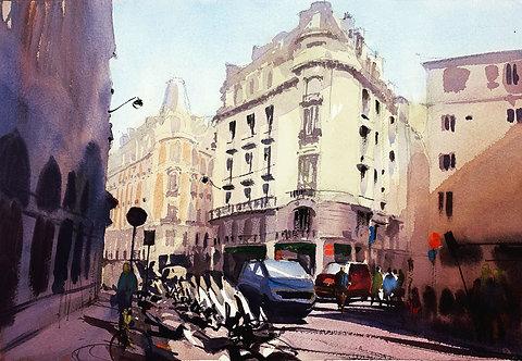 Parisian street - early morning