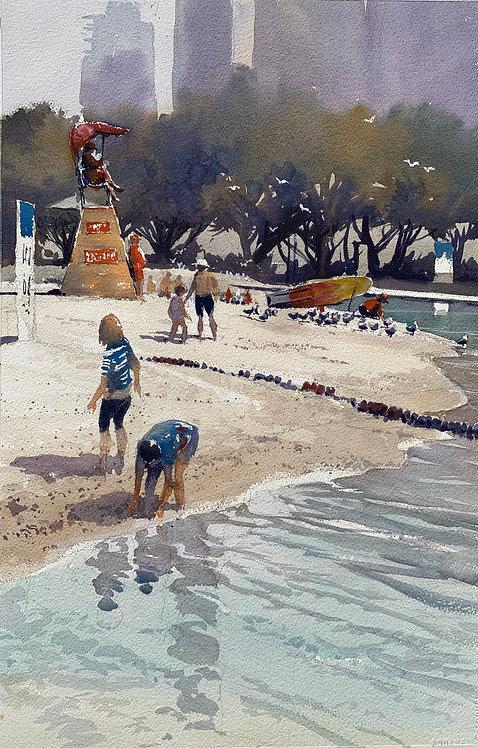 Day at the beach - South bank lagoon, Brisbane