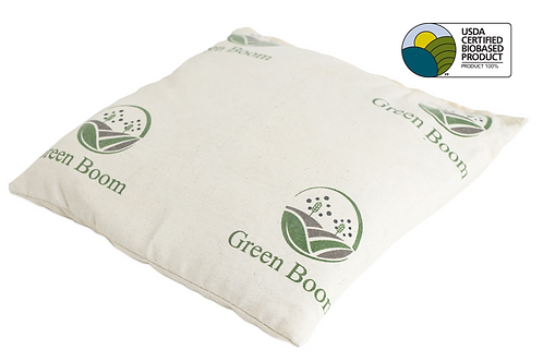 "Green Boom Oil-Only 10""X10"" Pillow"
