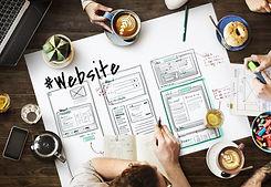 Website development layout sketch drawin