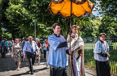 Procession Corpus Chirsti June Chiswick Church London