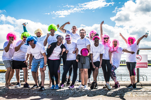 Corporate Event Dragoon Boat Charity London with Harrods M&S H&M staff