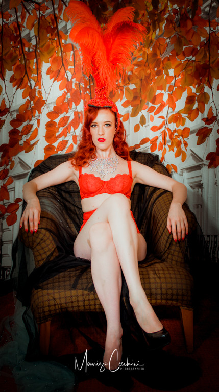 Burlesque Model Glamour Portrait