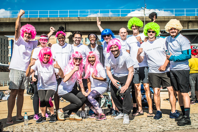 Corporate Event Dragoon Boat Charity London with Harrods Harvey Nichols M&S H&M staff