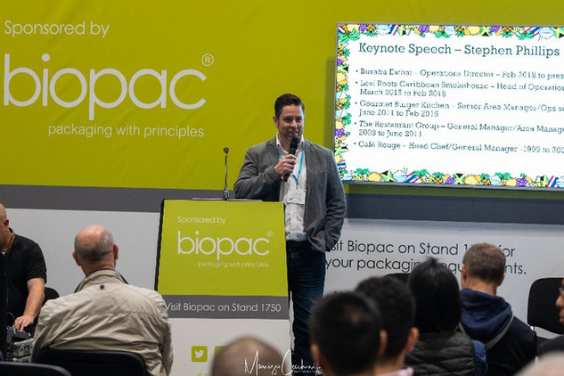 Biopac Corporate Event streetfoodlive event by prysmgroup Company ExCel London Centre Events