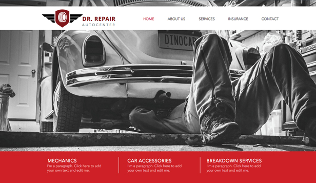 website template you love mechanic