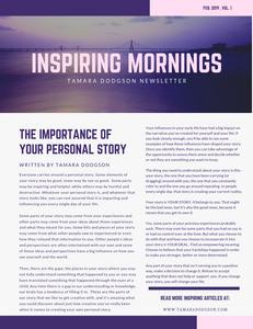 Inspiring Mornings Newsletter Head