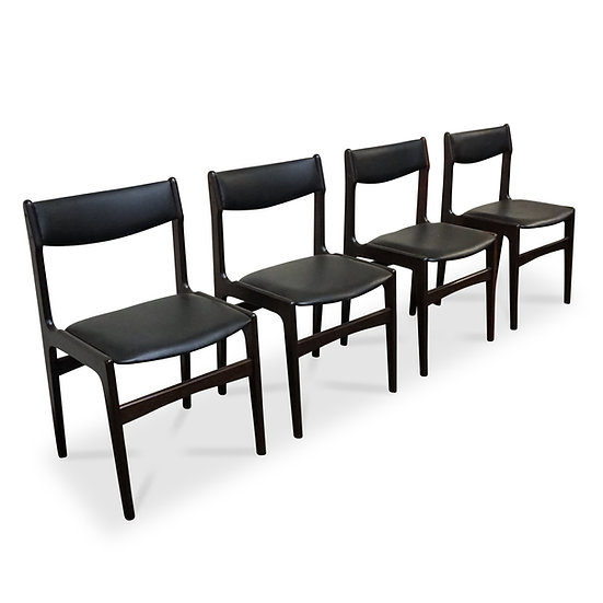 """(SOLD) Teak Dining Chairs - Set of 4 - """"Streymoy"""""""