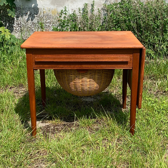 "Teak Sewing Table / Side Table - ""Haust"""