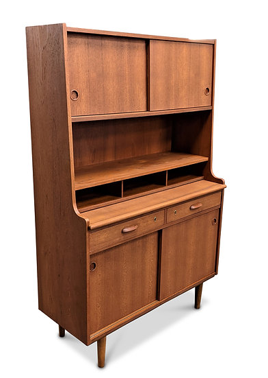 (SOLD) Teak Bookcase / Secretary - Lotte